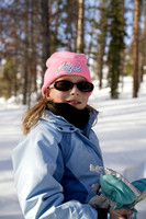 Audrey Snow Shoeing