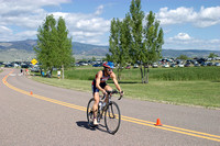 Susan Williams Biking - Boulder Peak Triathlon