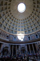 Opening in Pantheon roof.  Every April 15, the entryway is illuminated.